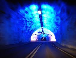 the longest tunnel in the world digital nomad driving through