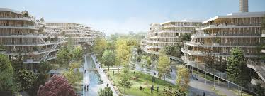 wooden office buildings. Laisné Roussel Plans An Office Campus Near Paris Made Entirely From Wood Wooden Buildings I