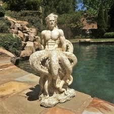 octoman male mermaid merman sculpture