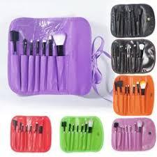 2016 hot professional 7 pcs makeup brush set tools foundation make up toiletry kit wool brand make up blush brush set case pink