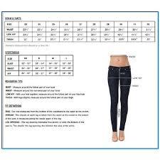 Ladies Jeans Size Chart Silver Jeans Size Chart Plus Sizes
