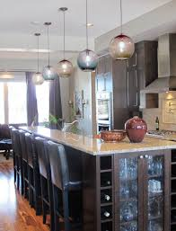 image of globe blown glass pendant lights