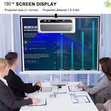 Sici Mini Projector 8000Lumens Portable LCD Projector Full <b>HD</b> ...