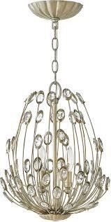 fredrick ramond fr31027slf tulah silver leaf mini chandelier lamp loading zoom