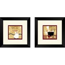 kitchen pasta chef 2 piece framed graphic art set on 2 piece wall art wayfair with kitchen chef wall art wayfair