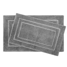 laura ashley pearl double border light gray 2 piece bath mat set