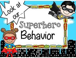 Batman Behavior Chart Superhero Behavior Chart Freebie