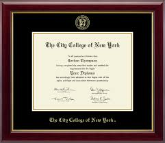 the city college of new york gold embossed diploma frame in  the city college of new york gold embossed diploma frame in gallery item 258816