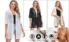 iClosam <b>Women's</b> Lightweight <b>Sheer</b> Cardigan Sweater <b>Summer</b> ...
