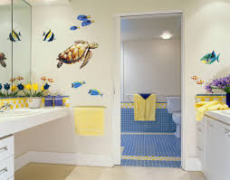 Wall Sticker Bathroom Sea Turtle And Reef Fish Wall Decal Set Bold Wall Art