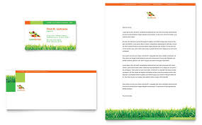Construction Company Letterhead Template Interesting Lawn Maintenance Business Card Letterhead Template Word Publisher