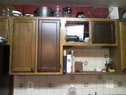 restain kitchen cabinets darker