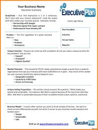 Example Of Business Resume Business Plan Example Executive Summary Template Farmer Resume 43