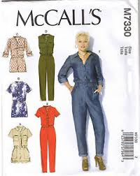 Women's Romper Pattern Stunning Button Up Utility Jumpsuit Romper McCalls Sewing Pattern XS S M 48 48