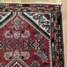 image 0 red oriental rug with fringe vintage 2 7 x 4