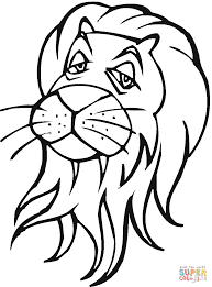 Small Picture Lion head coloring page Free Printable Coloring Pages