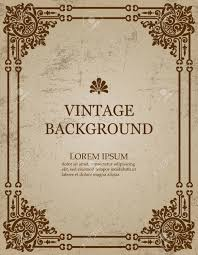 vector vector vine old paper background with royal pattern frame as a template to create book covers greeting cards invitations backdrops posters