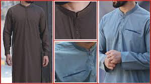 Mens Shalwar Kameez Collar Designs 2019 Junaid Jamshed Shalwar Kameez Collar Neck Design Men Boys Kurta New Designs