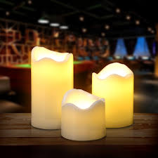 <b>3PCS</b>/<b>set</b> LED Flameless Candles Battery Operated Smokeless for ...