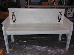 Headboard To Bench Diary Of A Crafty Lady Bench Made From A Headboard And Footboard