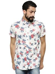Pepe Jeans Casual Shirt Size Chart Buy Pepe Jeans White Hawaiian Shirt In Slim Fit For Men