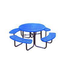 ultra play 46 in blue steel round picnic table
