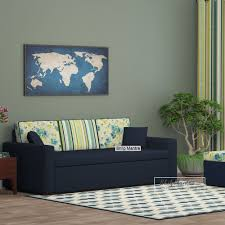 nobel fabric sofa bed indigo ink by shilpmantra