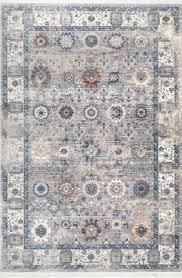 nuloom alene fl fringe grey area rug