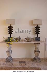 P Traditional Furniture Console Table Stock Photos Elegant Stone  Hall