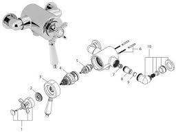 bristan 1901 thermostatic exposed dual control shower valve bottom n2 cshxvo shower spares