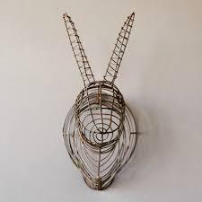 rabbit head wire wall decor