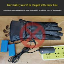 <b>Electric Heated Gloves Motorbike Motorcycle</b> Leather Gloves With Li ...