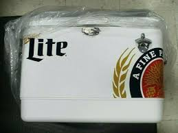 miller lite cooler on wheels qt white s miller lite cooler
