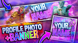 Free Fortnite Banner Profile Photo Template Pack