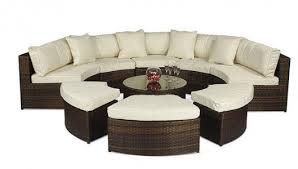 monaco rattan garden furniture semi