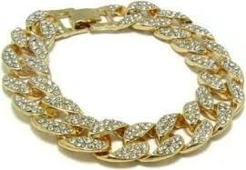 men hip hop bracelet fashion luxury rhinestone iced out miami cuban chain bracelet 8 rock gold plated bracelets bangles jewelry in saudi arabia