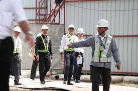 คณะผู้บริหารและกรรมการบริษัท สิงห์ เอสเตท จำกัด (มหาชน) ลงพื้นที่ตรวจสอบ  ความคืบหน้างานก่อสร้างโครงการสิงห์ คอมเพล็กซ์