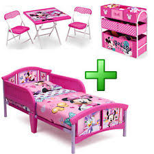Girl Bedroom Furniture Set Toy Organizer Kid Child Toddler Bed Table Chairs  New