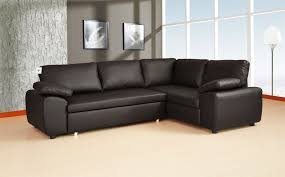 decorate your home with black leather corner sofa