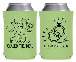 wedding can coolers beverage insulators koozies personalized Wedding Wine Koozies wedding can coolers beverage insulators koozies personalized wedding favors shit just got real part coozies wedding wine koozies