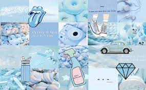 A light blue collage i made. hope y'all ...