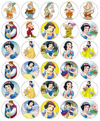30 X Disney Princess Cupcake Toppers Edible Wafer Paper Fairy Cake