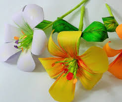 How To Make Flower Paper How To Make Paper Flower 5 Steps With Pictures