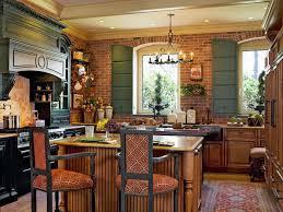 Exposed Brick Kitchen Exposed Brick Chimney In Kitchen Round Black Webbing Pendant Lamp