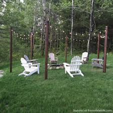 Fire Pit Swing Easy Diy Outdoor Lighting Around A Fire Pit Remodelaholic