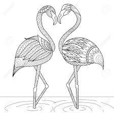 Tir Par La Main Deux De Style Flamant Rose Pour Le Livre De