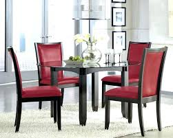 red faux leather dining chairs uk upholstered room chair design ideas