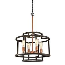 westinghouse 6328100 weston fourlight indoor chandelier oil rubbed bronze and washed copper finish copper chandelier lighting i20