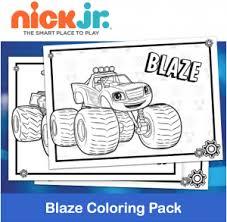 Free Printable Nick Jr Blaze Coloring Pack Printables