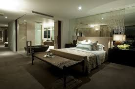 master bedroom with open bathroom. Bedroom:Graceful Open Master Bedroom Bathroom Decor Together With Headboard As Sink Also Glass M